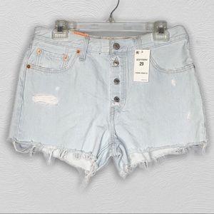 Levi's | 501 High Rise Button Fly Jean Shorts | 29